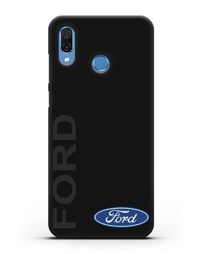 Чехол с надписью Ford и логотипом силикон черный для Honor Play