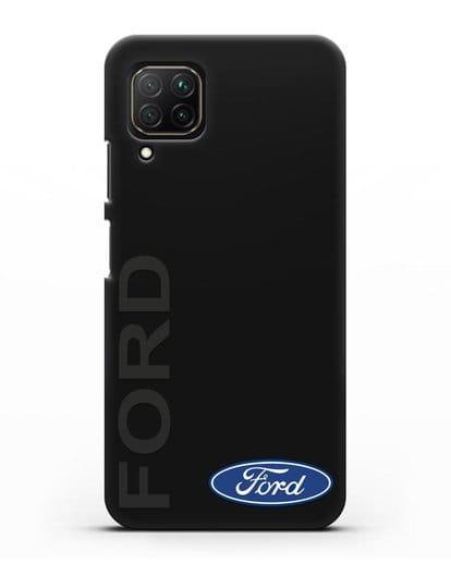 Чехол с надписью Ford и логотипом силикон черный для Huawei Nova 7i