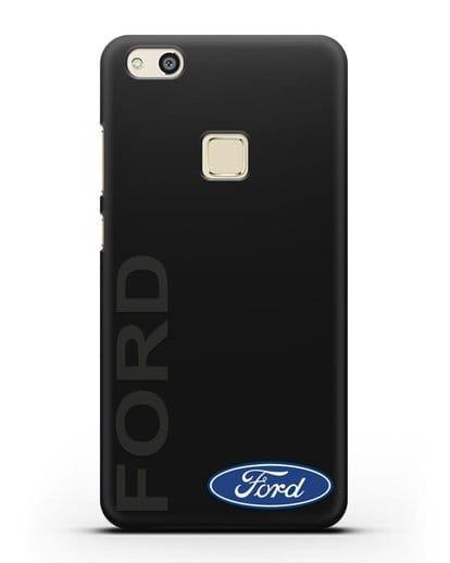 Чехол с надписью Ford и логотипом силикон черный для Huawei P10 Lite