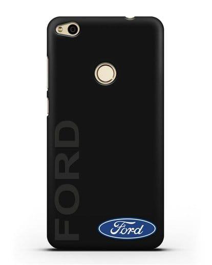 Чехол с надписью Ford и логотипом силикон черный для Huawei P8 Lite 2017