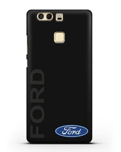 Чехол с надписью Ford и логотипом силикон черный для Huawei P9