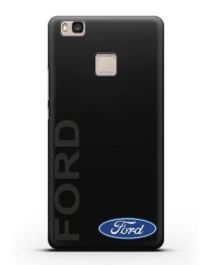 Чехол с надписью Ford и логотипом силикон черный для Huawei P9 Lite