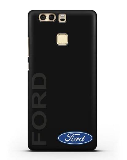 Чехол с надписью Ford и логотипом силикон черный для Huawei P9 Plus