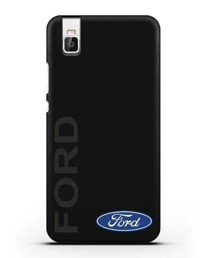 Чехол с надписью Ford и логотипом силикон черный для Huawei Shot X