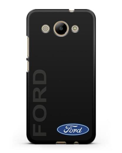 Чехол с надписью Ford и логотипом силикон черный для Huawei Y3 2017
