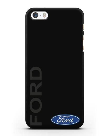 Чехол с надписью Ford и логотипом силикон черный для iPhone 5/5s/SE