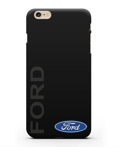 Чехол с надписью Ford и логотипом силикон черный для iPhone 6 Plus