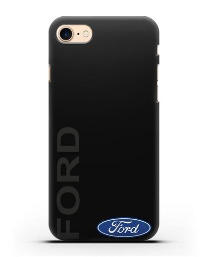Чехол с надписью Ford и логотипом силикон черный для iPhone 7