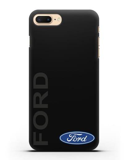 Чехол с надписью Ford и логотипом силикон черный для iPhone 8 Plus