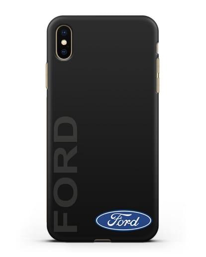 Чехол с надписью Ford и логотипом силикон черный для iPhone XS Max