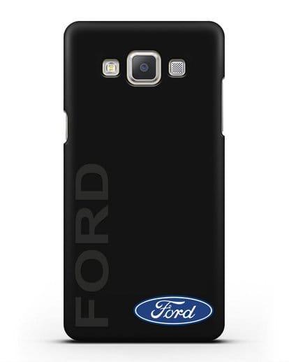Чехол с надписью Ford и логотипом силикон черный для Samsung Galaxy A7 2015 [SM-A700F]