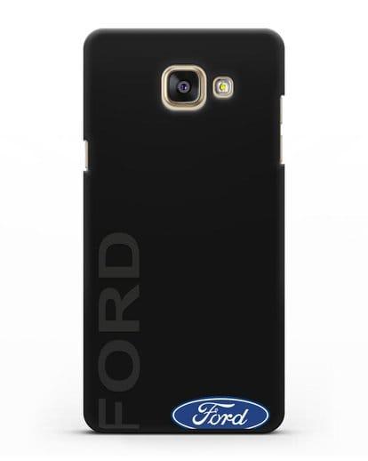 Чехол с надписью Ford и логотипом силикон черный для Samsung Galaxy A7 2016 [SM-A710F]