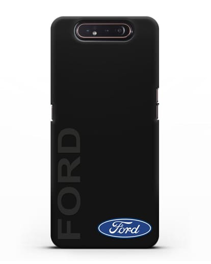 Чехол с надписью Ford и логотипом силикон черный для Samsung Galaxy A80 [SM-A805F]