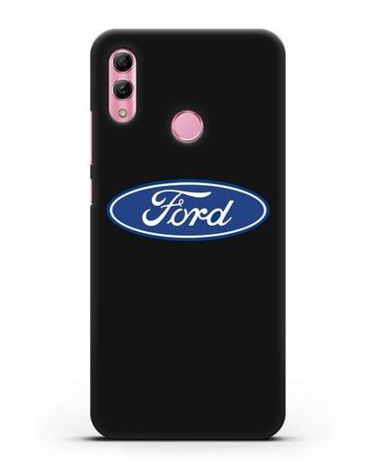 Чехол с логотипом Ford силикон черный для Honor 10 Lite