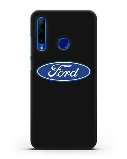 Чехол с логотипом Ford силикон черный для Honor 10i