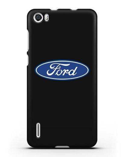 Чехол с логотипом Ford силикон черный для Honor 6
