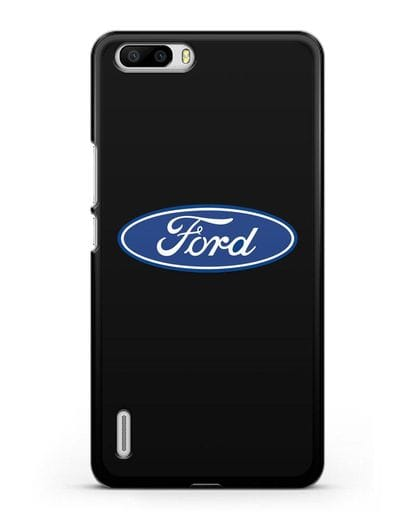 Чехол с логотипом Ford силикон черный для Honor 6 Plus