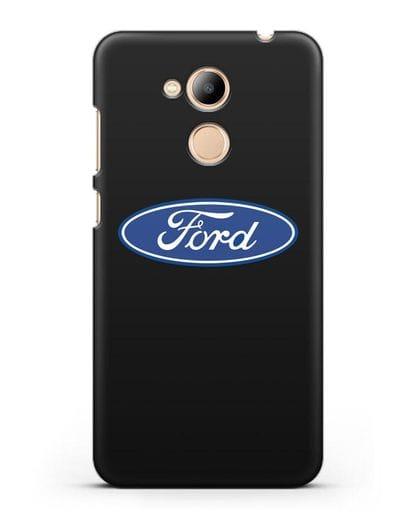Чехол с логотипом Ford силикон черный для Honor 6C Pro