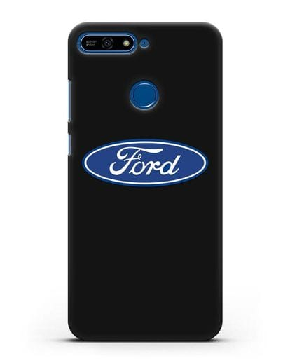 Чехол с логотипом Ford силикон черный для Honor 7А Pro