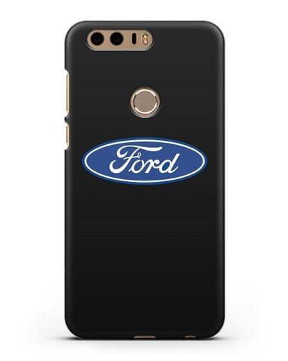 Чехол с логотипом Ford силикон черный для Honor 8