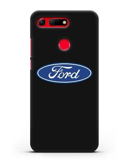 Чехол с логотипом Ford силикон черный для Honor View 20