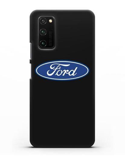 Чехол с логотипом Ford силикон черный для Honor View 30 Pro