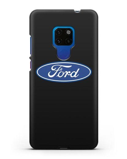 Чехол с логотипом Ford силикон черный для Huawei Mate 20