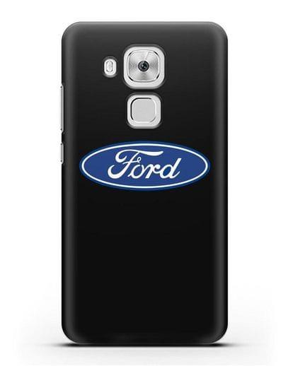 Чехол с логотипом Ford силикон черный для Huawei Nova Plus