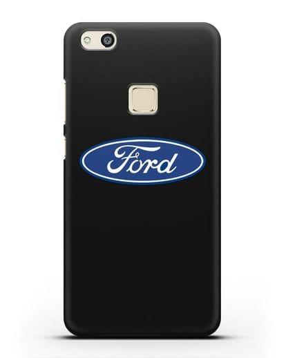 Чехол с логотипом Ford силикон черный для Huawei P10 Lite