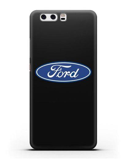 Чехол с логотипом Ford силикон черный для Huawei P10 Plus