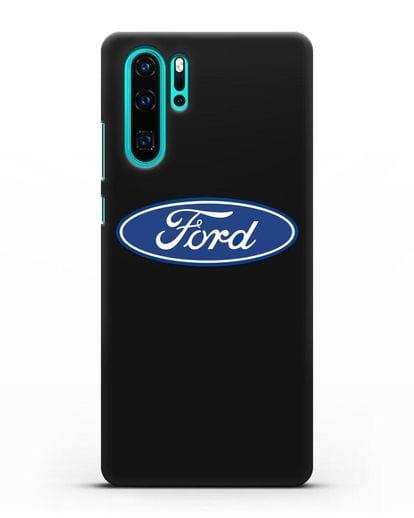 Чехол с логотипом Ford силикон черный для Huawei P30 Pro