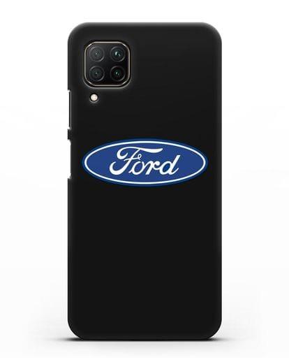 Чехол с логотипом Ford силикон черный для Huawei P40 lite