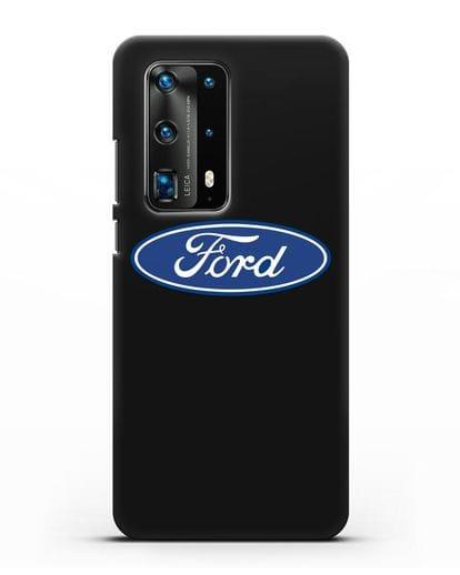 Чехол с логотипом Ford силикон черный для Huawei P40 Pro