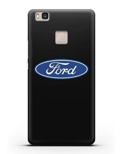 Чехол с логотипом Ford силикон черный для Huawei P9 Lite