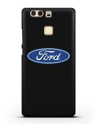 Чехол с логотипом Ford силикон черный для Huawei P9 Plus