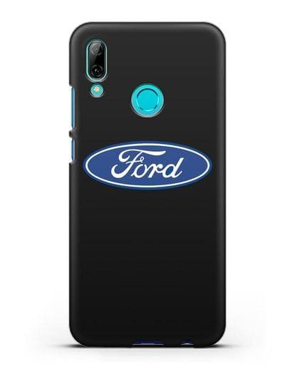 Чехол с логотипом Ford силикон черный для Huawei P Smart 2019