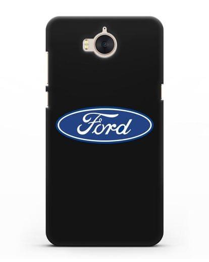 Чехол с логотипом Ford силикон черный для Huawei Y5 2017