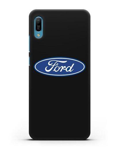 Чехол с логотипом Ford силикон черный для Huawei Y6 2019