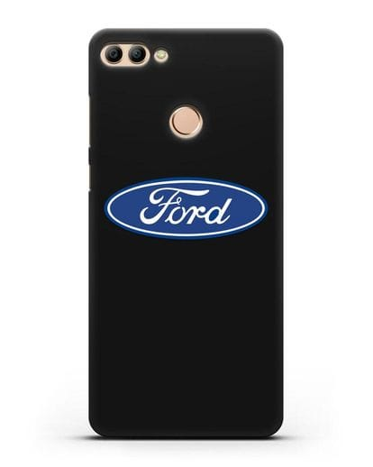 Чехол с логотипом Ford силикон черный для Huawei Y9 2018