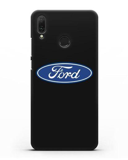 Чехол с логотипом Ford силикон черный для Huawei Y9 2019