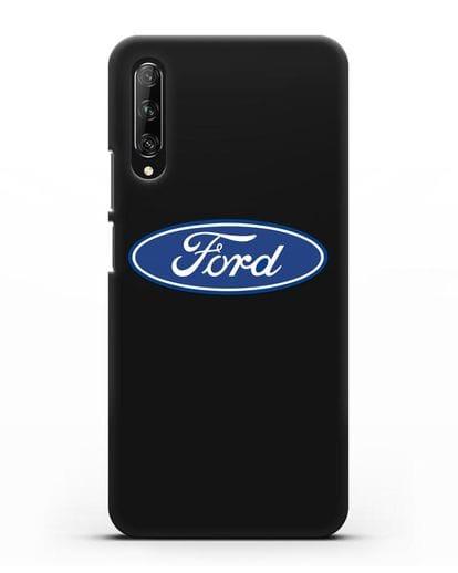 Чехол с логотипом Ford силикон черный для Huawei Y9s