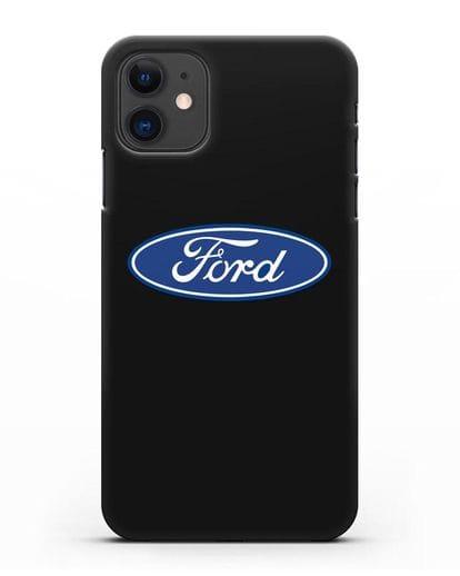 Чехол с логотипом Ford силикон черный для iPhone 11