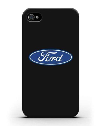 Чехол с логотипом Ford силикон черный для iPhone 4/4s