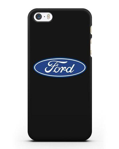 Чехол с логотипом Ford силикон черный для iPhone 5/5s/SE