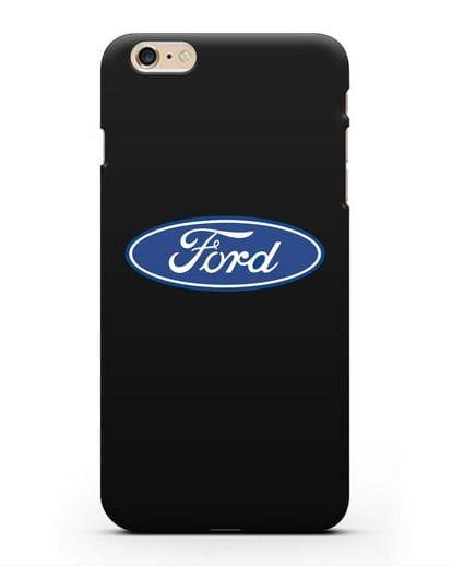 Чехол с логотипом Ford силикон черный для iPhone 6 Plus