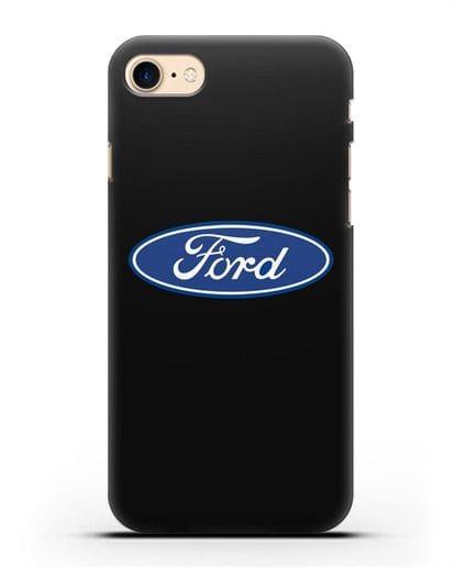 Чехол с логотипом Ford силикон черный для iPhone 7