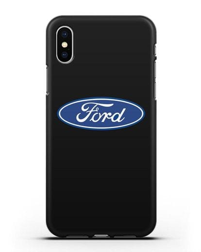 Чехол с логотипом Ford силикон черный для iPhone XS