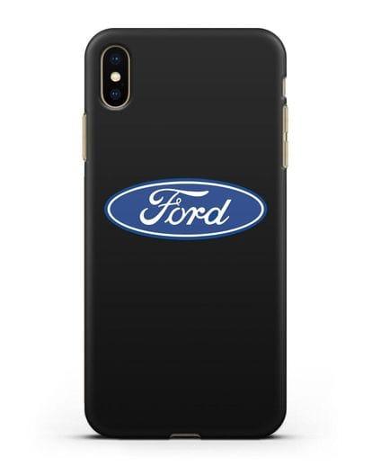 Чехол с логотипом Ford силикон черный для iPhone XS Max