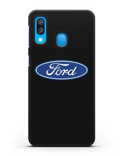 Чехол с логотипом Ford силикон черный для Samsung Galaxy A40 [SM-A405F]