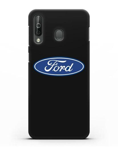 Чехол с логотипом Ford силикон черный для Samsung Galaxy A40s [SM-A507FN]